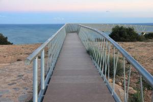 Mirador del Caminatas que llevan al mirador del Faro de Santa Pola